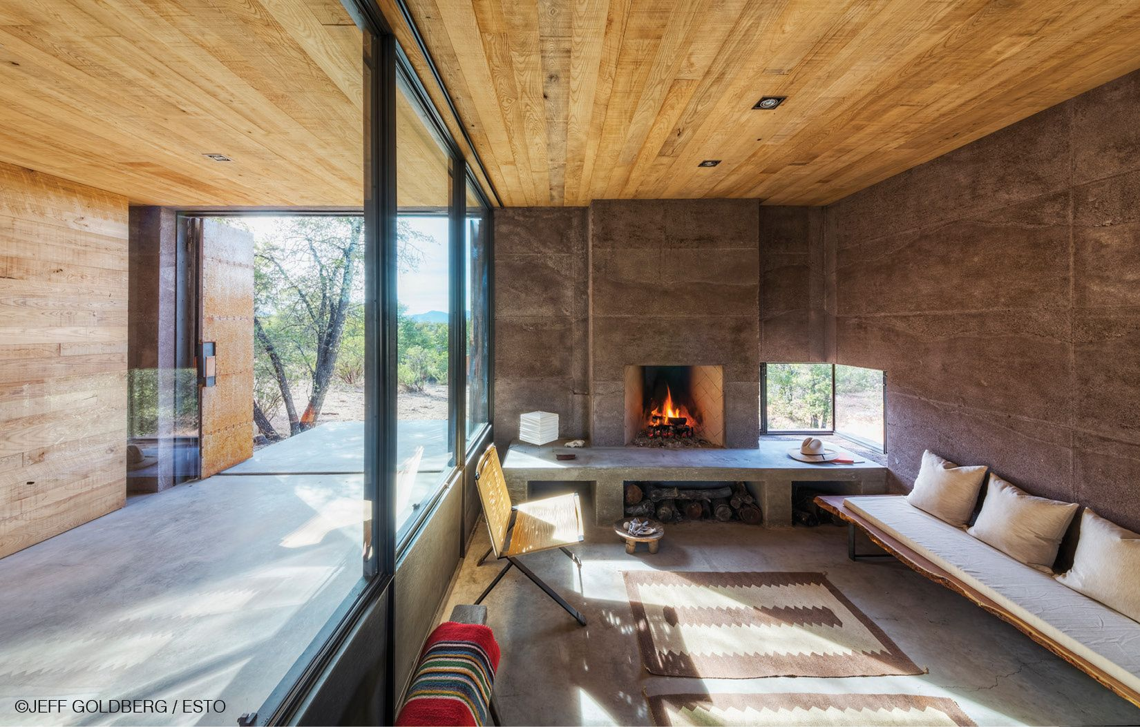 Architecture, DUST, Casa Caldera, Tucson, Arizona, Design, Residential,  Modern, Architects, Morning, Sunrise, Scoria, Lava Crete, Reclaimed Wood,  Sassafras, ...
