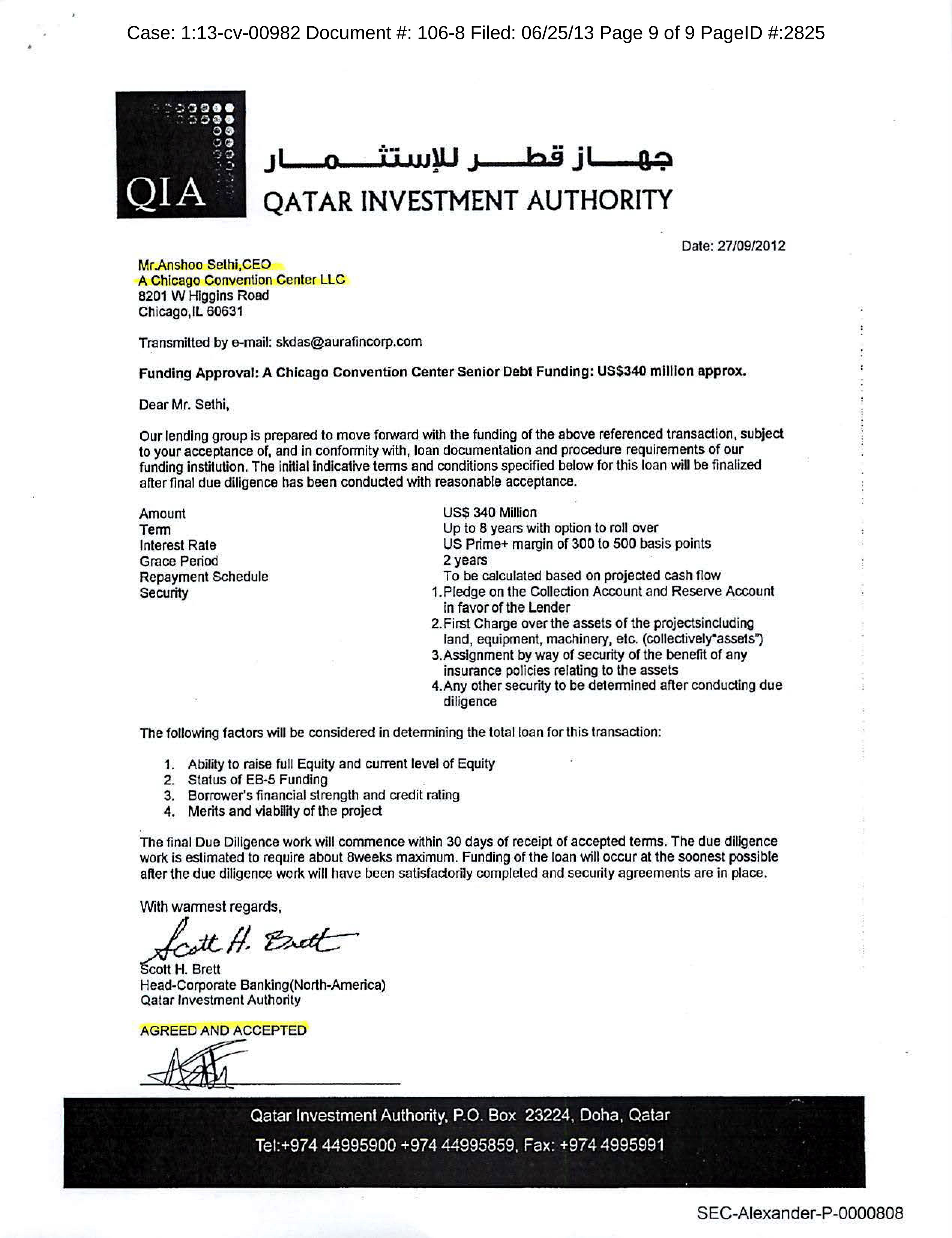 Sample Letter To Potential Investors For A Promotion Company