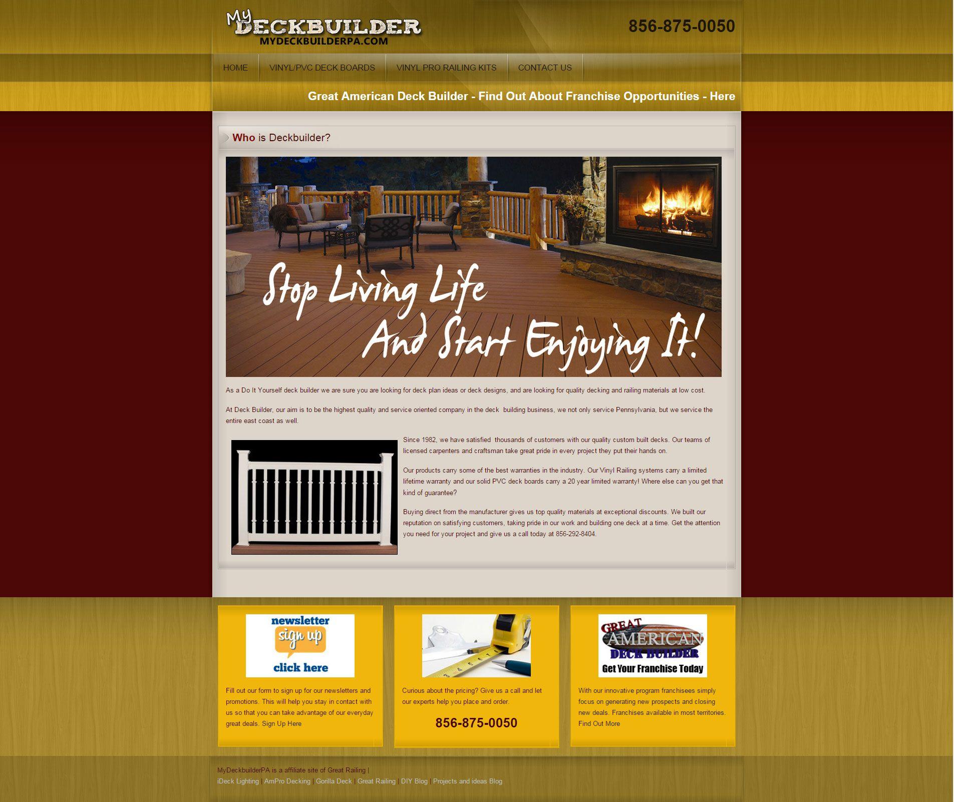 Mydeckbuilder pa web design websites ive done pinterest mydeckbuilder pa web design solutioingenieria Image collections