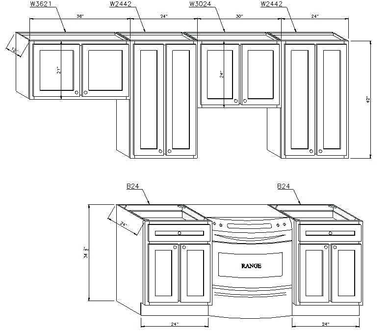 Average Depth Of Kitchen Cabinets