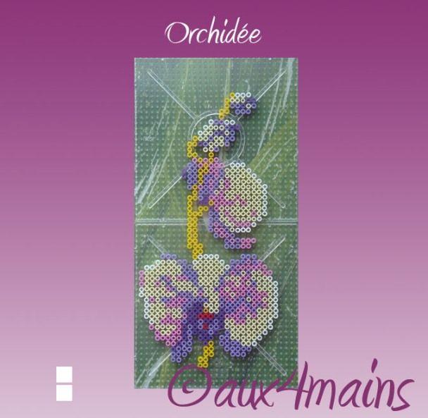 orchid hama perler by aux4mains b gelperlen vorlagen b gelperlen b gelperlen bilder und. Black Bedroom Furniture Sets. Home Design Ideas