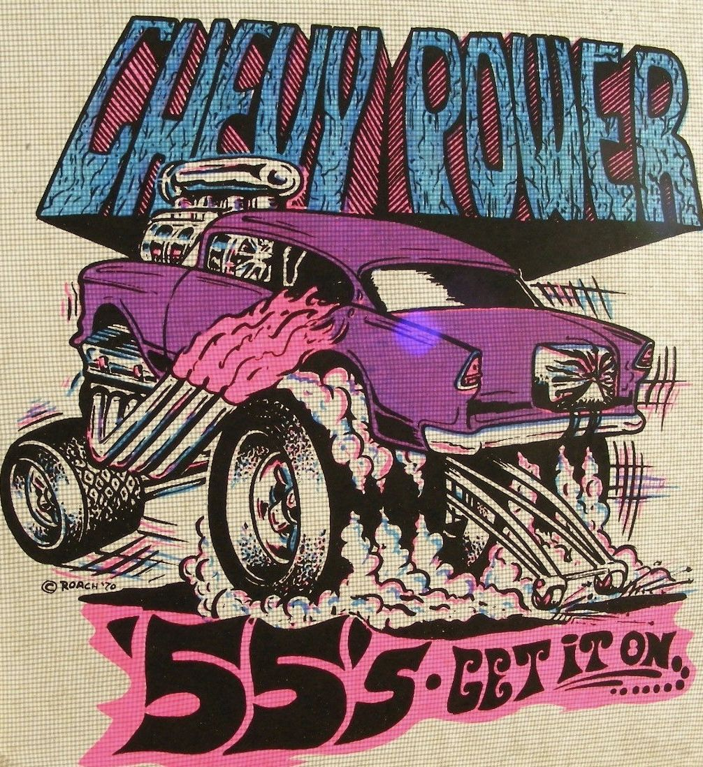 55 Chevy Rat Fink T shirt Big Daddy T 1955 Gasser Hot Rod Tee Sz M L XL 2XL 3XL