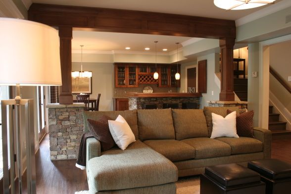 Like the open staircase to the finished basement and method for