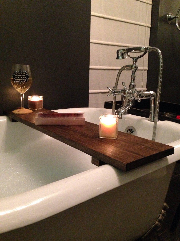 Rustic Bathtub Caddy Bath Tray Poplar Wood Clawfoot Tub Tray by ...
