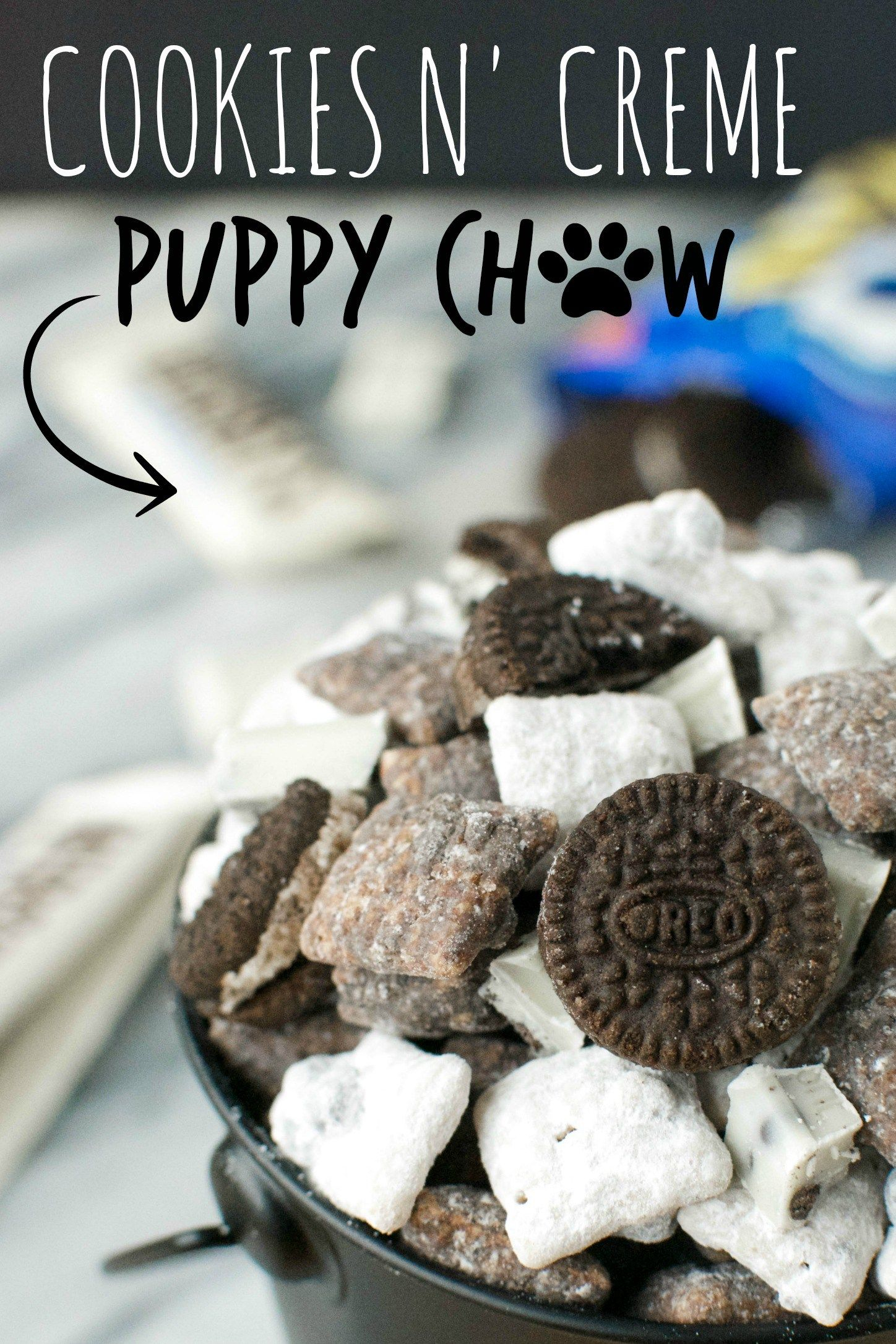 Cookies n' Creme Puppy Chow | A baJillian Recipes