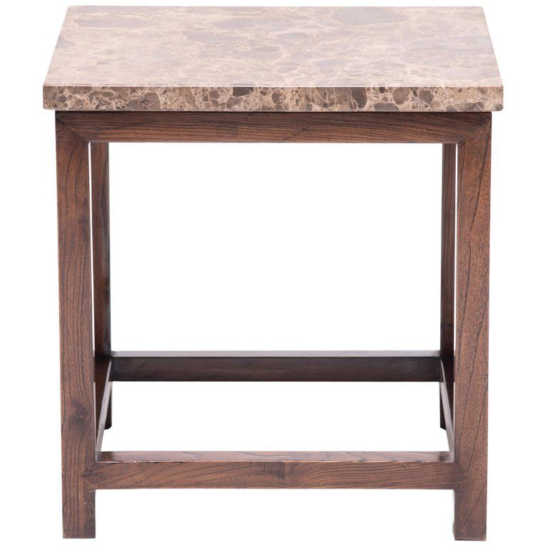 Square Side Table With Stone Top In 2019