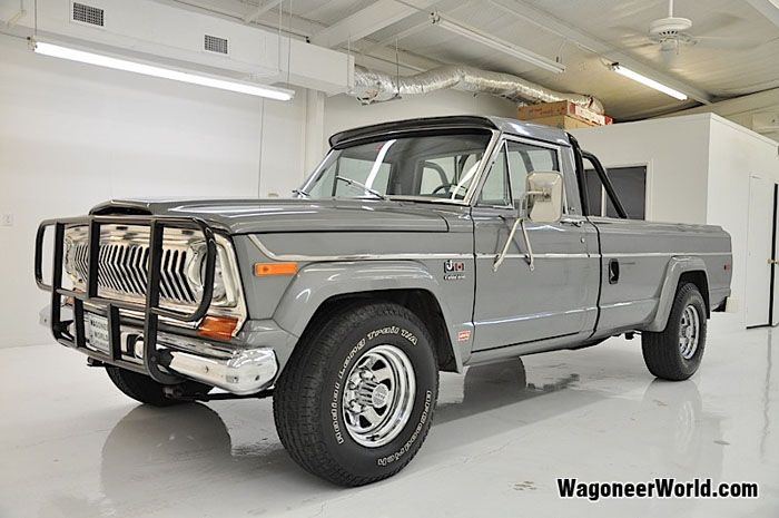 Beautiful Color 1978 Jeep J 10 Truck Pewter Gray Metallic Blue