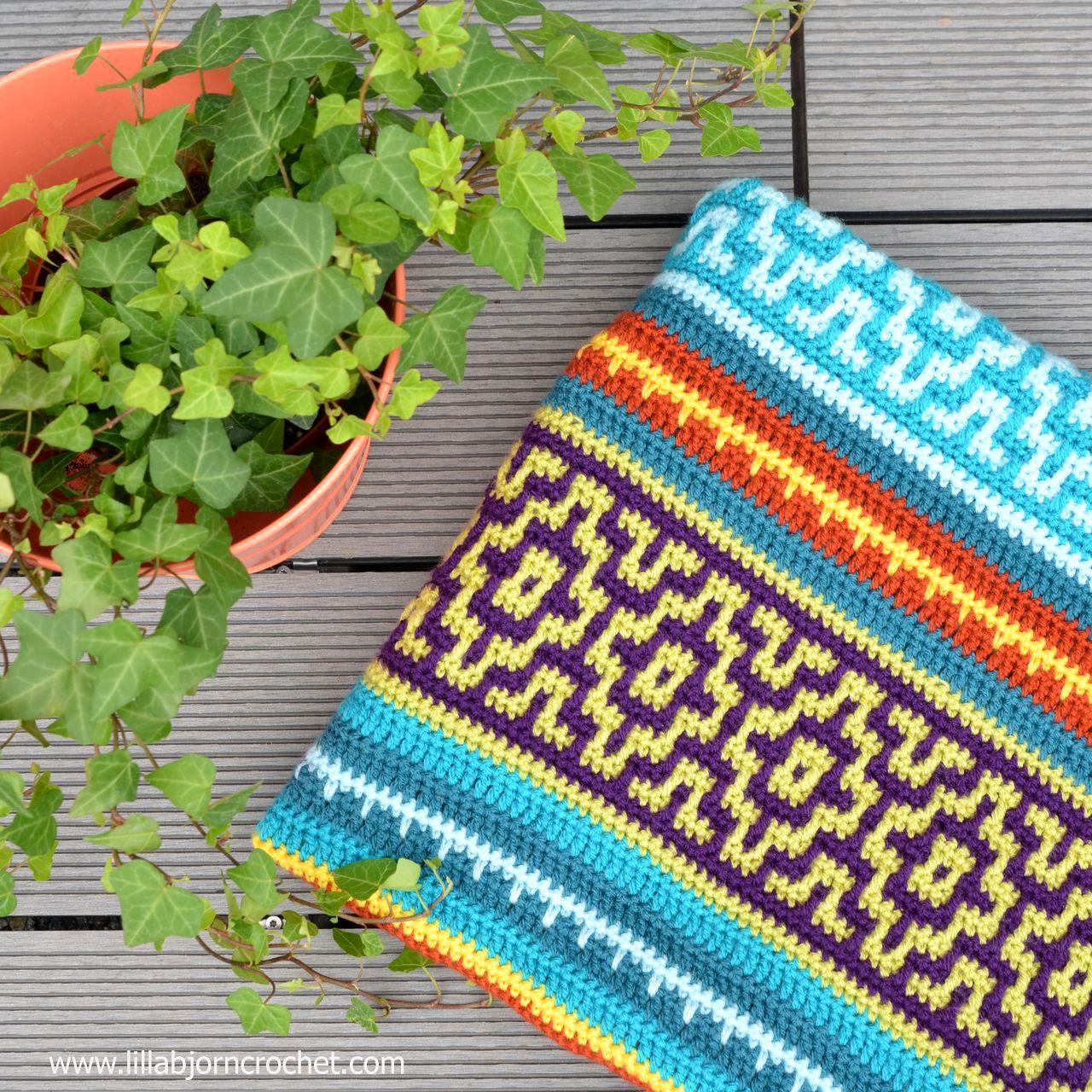 Nya Mosaic Blanket: reveal (LillaBjörn\'s Crochet World) | Crochet ...