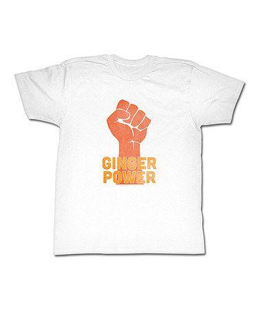 This White & Orange 'Ginger Power' Tee is perfect! #zulilyfinds