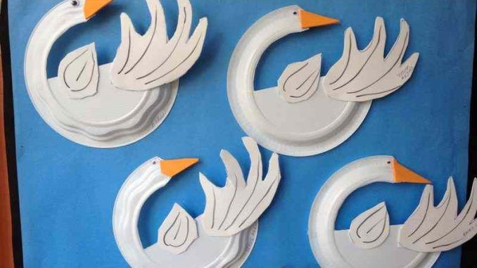 Paper Plate Swan Craft Idea Swan Crafts For Kids Crafts Animal