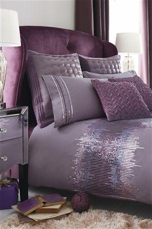 Plum Ombre Sequin Bed Set