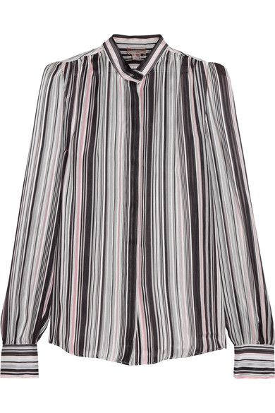 Giambattista Valli Woman Striped Silk-georgette Blouse Black Size 48 Giambattista Valli Outlet Really 2018 New Cheap Online Official Site Buy Cheap Great Deals Outlet Authentic YsqVMEN
