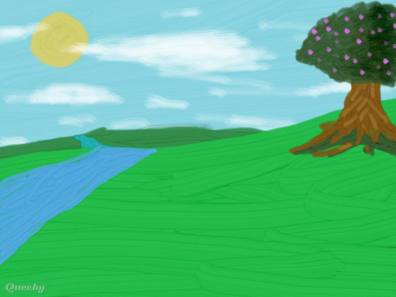 Simple Days ← a landscape drawing by Klatez . Queeky - draw online.