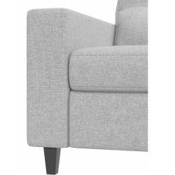 Photo of Stylefy Gerd single sofa light brown structured fabric