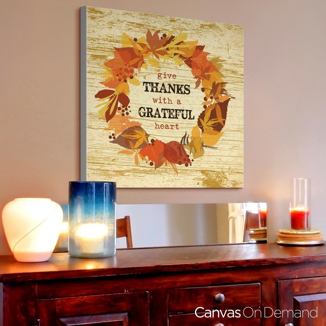What are you thankful for this year find the perfect thanksgiving find the perfect thanksgiving wall decor and art amipublicfo Gallery