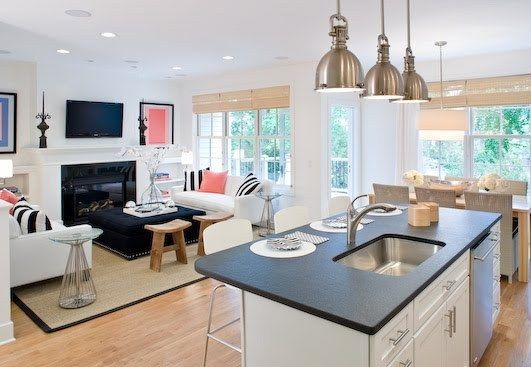 Open Plan Kitchens Pictures  House  Home  Pinterest  Kitchen Captivating Open Plan Lounge Kitchen Dining Room Ideas Design Decoration