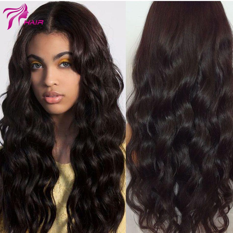 글루리스 레이스 프런트 인간의 머리 가발 최고의 인간의 브라질 처녀 머리 바디 웨이브 레이스 프런트 가발 130 밀도