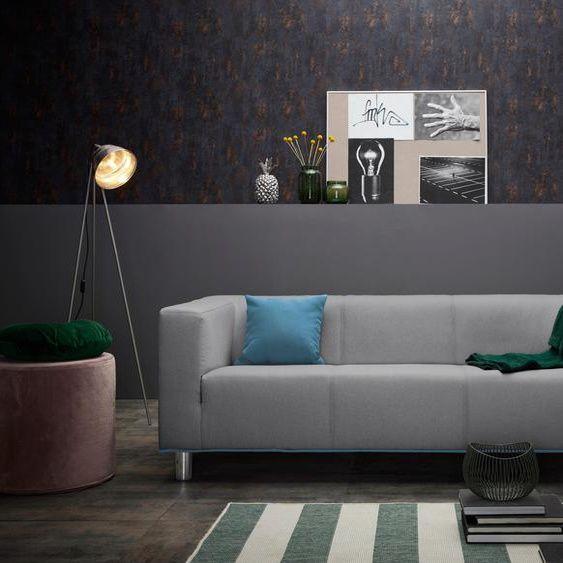 Inosign 3er Sofa Lucas Grau Stoff Inkl Zierkissen Hoher Sitzkomfort In 2020 Home Decor Furniture Decor