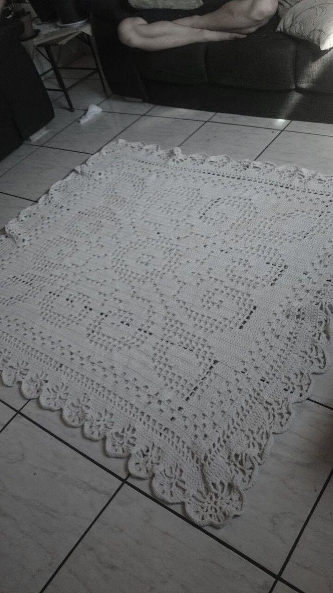 Tapete De Barbante E Croche Para A Sala Crochet