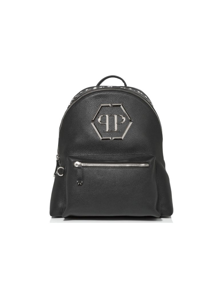 5de3cd5650d PHILIPP PLEIN Philipp Plein Vehuel Backpack. #philippplein #bags #leather  #lining #