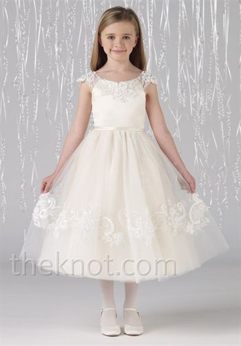 Wow. Super sweet but prob costs a fortune ...do you want full length skirt on flower girl dress?? Joan Calabrese by Mon Cheri Flower Girl Dresses