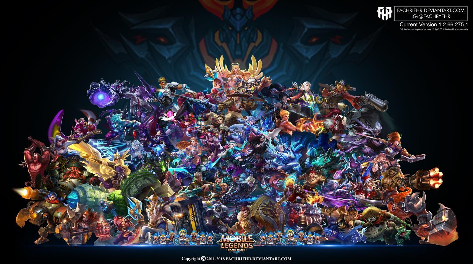 Wallpaper Desktop/PC Mobile Legend HD All Hero By