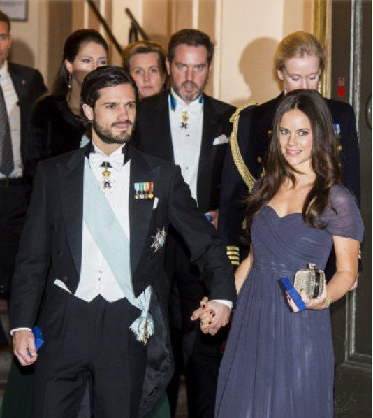 The Swedish Royal Family attending the Annual meeting Swedish Academy in Stockholm