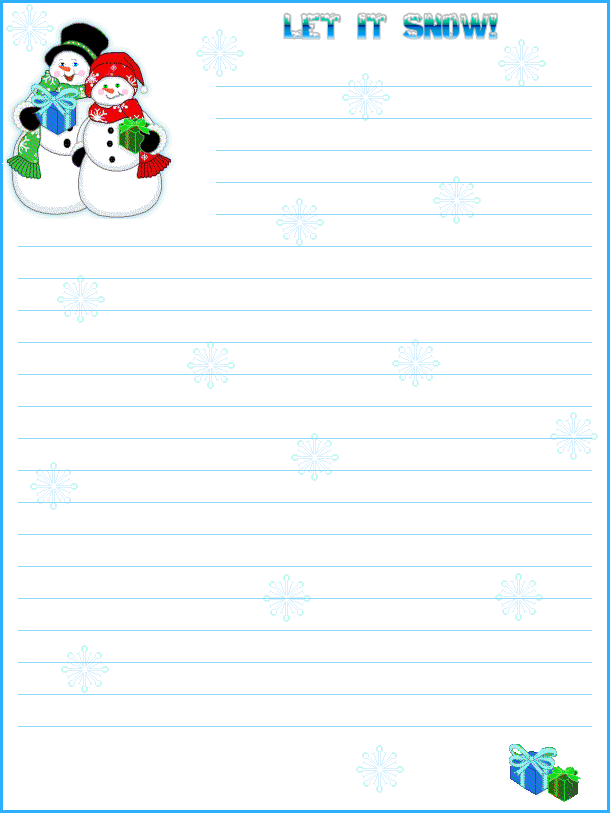 Let it Snow | Printable Stationery | Christmas stationery