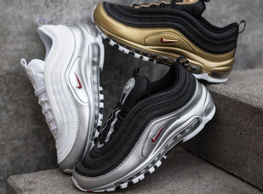 Nike Air Max 97 'B Sides' QS Metallic Silver & Gold (2018