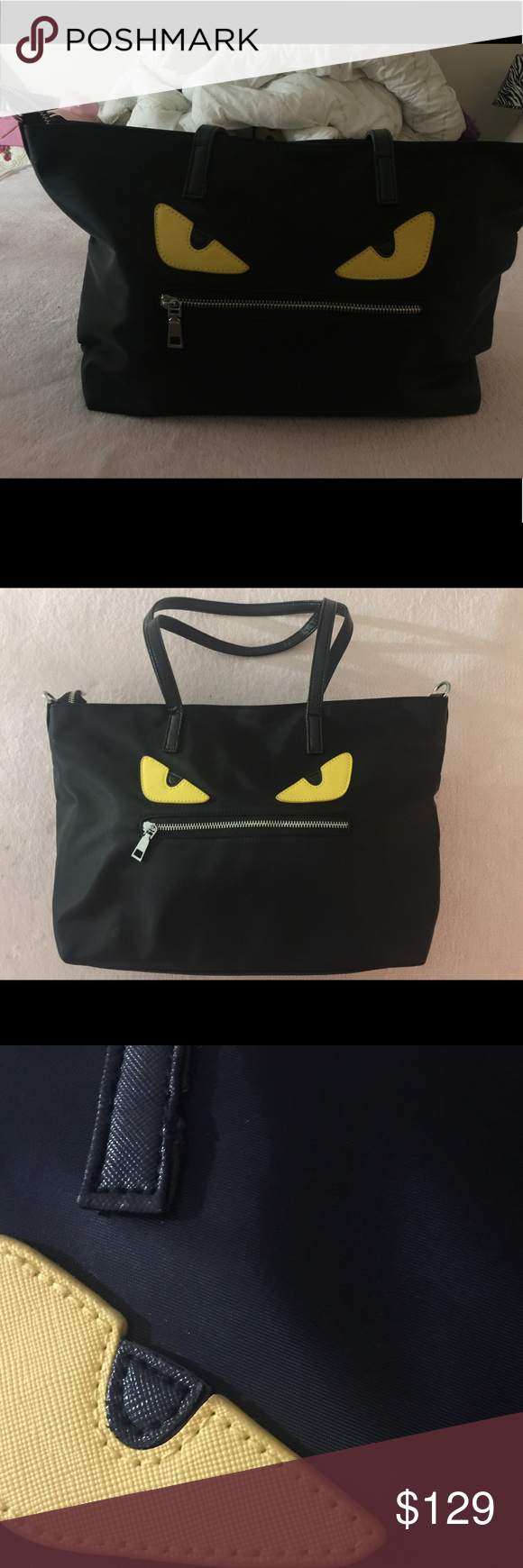 "Fendi style bag New ""Fendi "" style bag! Not the real Fendi brand! Really cute and never use! It is a gift ! Now I would like sell it for you ! Best for summer ! unbrand Bags Totes"