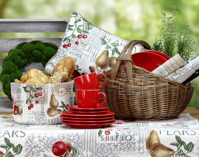 Gartengluck In Rot Gartentischdecken Und Accessoires Fur Den Gartentisch Gartentischdecke Decke Gartentisch