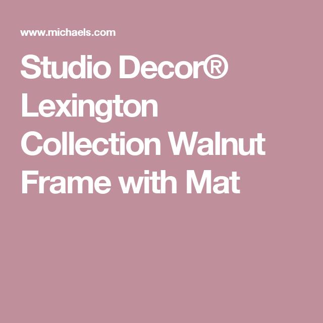 Studio Decor 174 Lexington Collection Walnut Frame With Mat