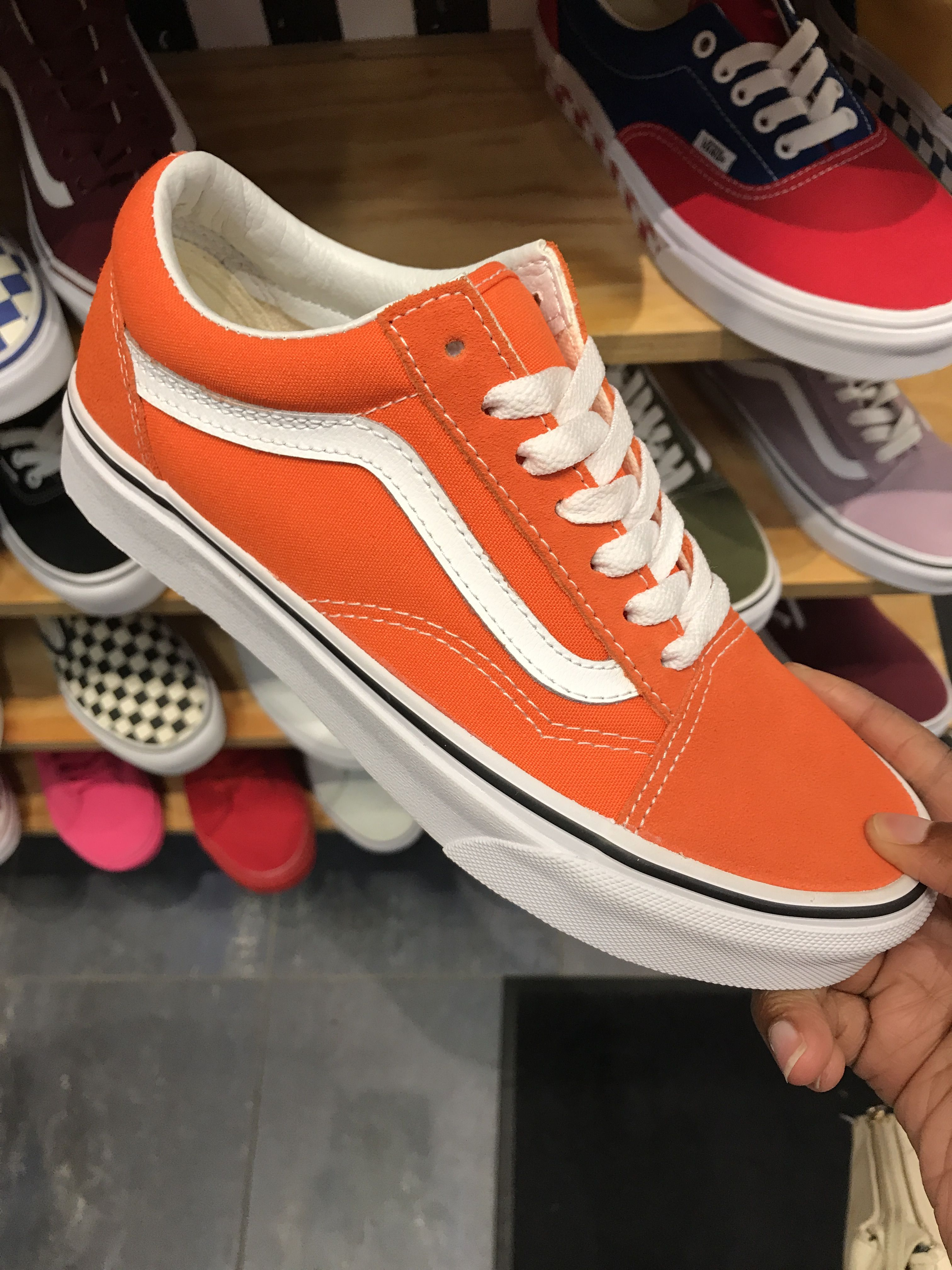 Follow@Ms.Love | Orange vans, Orange shoes, Vans