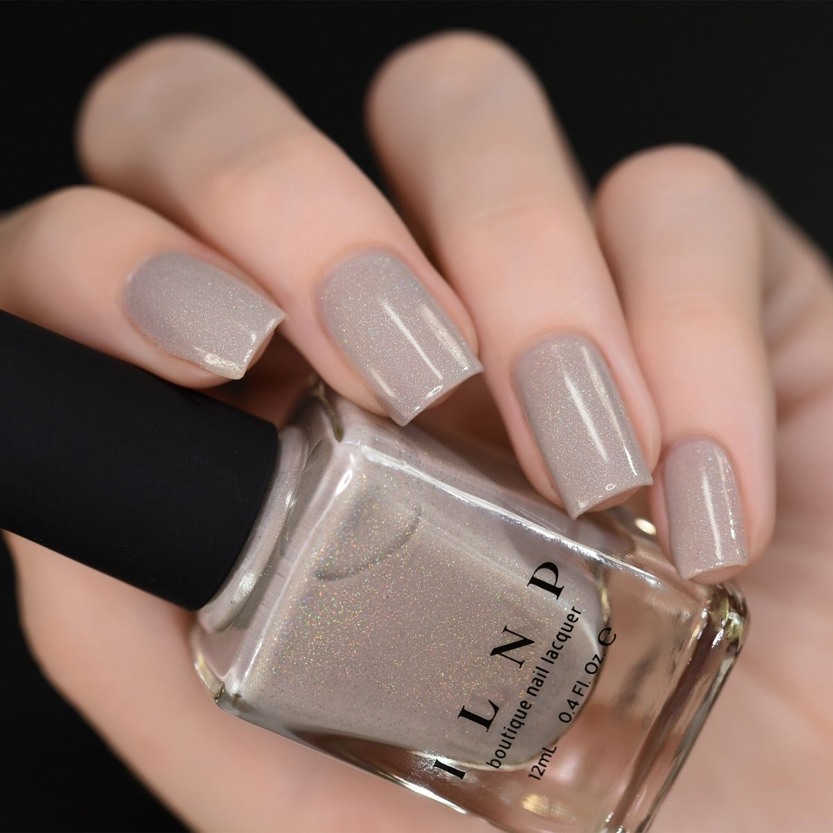 Set In Stone - Creamy Greige Holographic Nail Polish by ILNP