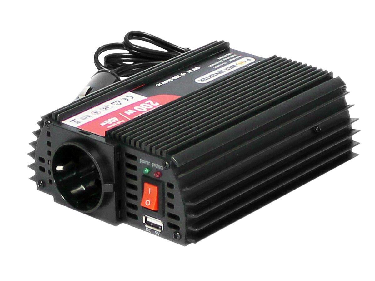 Spannungswandler Inverter Wechselrichter 12v 230v 200w Usb Ausgang Spannungswandler Wechselrichter Invert Wechselrichter Spannungswandler Richter