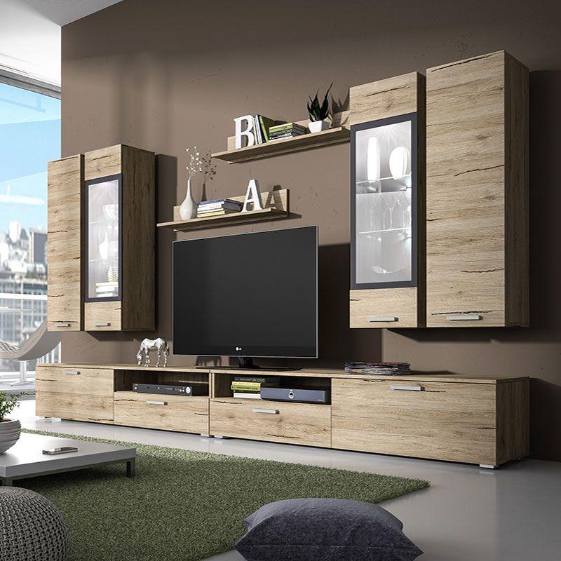 ensemble meuble tv couleur chene clair