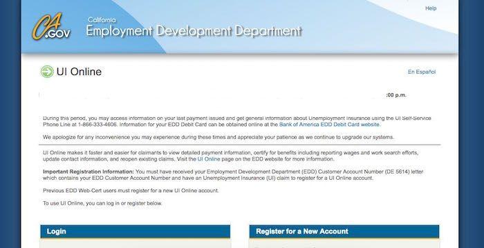 California Unemployment Login Edd Ca Gov Benefits