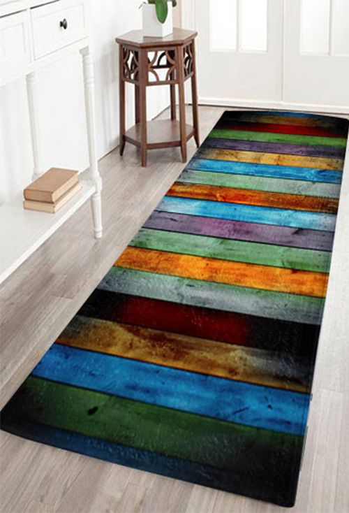 coral velvet colorful stripe large area rug - Colorful Area Rugs