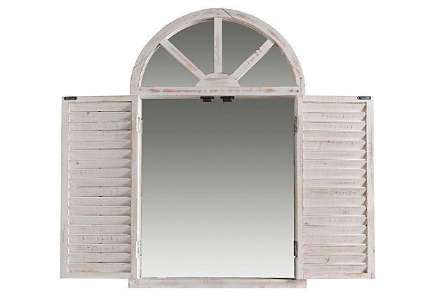 half moon window cover window halfmoon mirror with shutters on onekingslanecom home