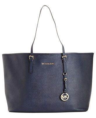 MICHAEL Michael Kors Handbag, Saffiano Medium Travel Tote - Handbags & Accessories - Macy's