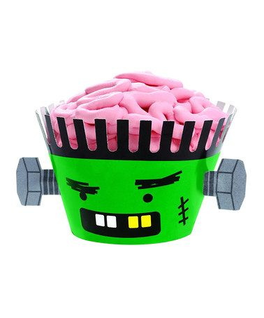 Take a look at this Frankenstein Cupcake Set by Wilton on #zulily - wilton halloween cupcake decorations