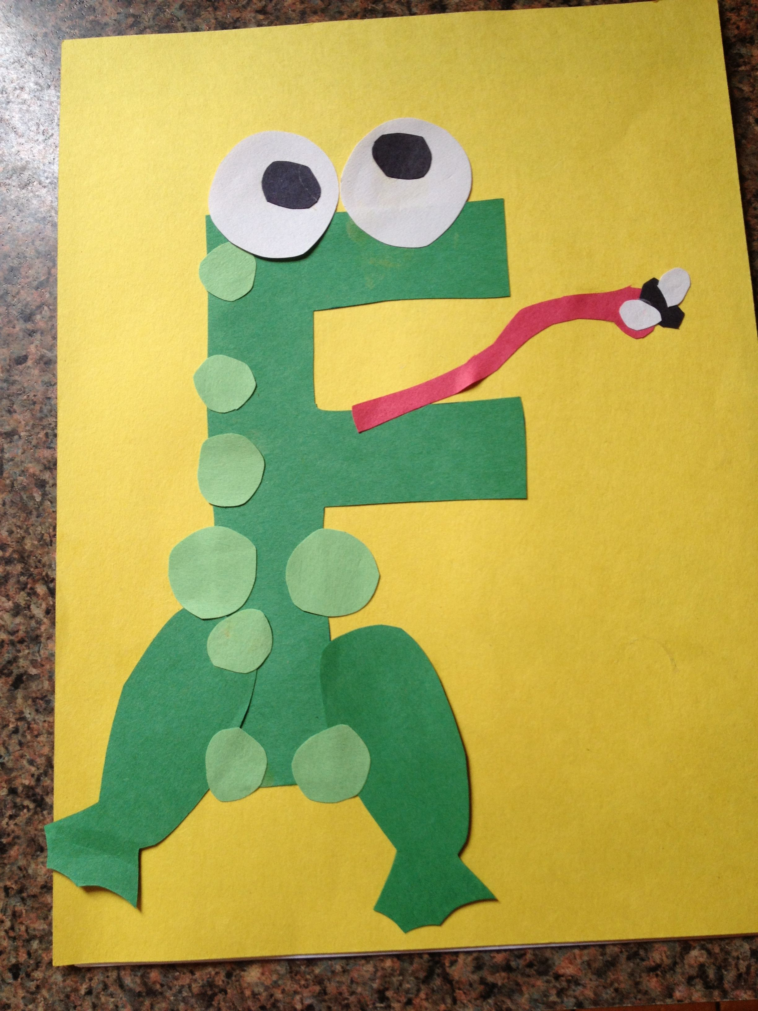 F Is For Frog Preschool Crafts