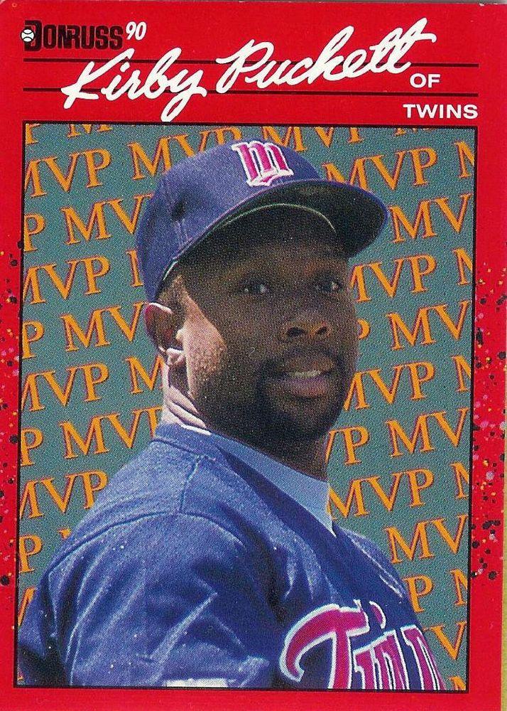 1990 Donruss Bc 8 Kirby Puckett Mvp Minnesota Twins
