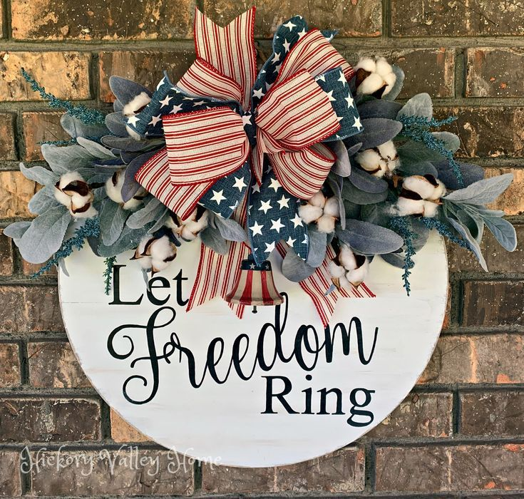 Large Patriotic Door Hanger Red White And Blue Door Hanger 4th Of July Swag July 4th Wreath