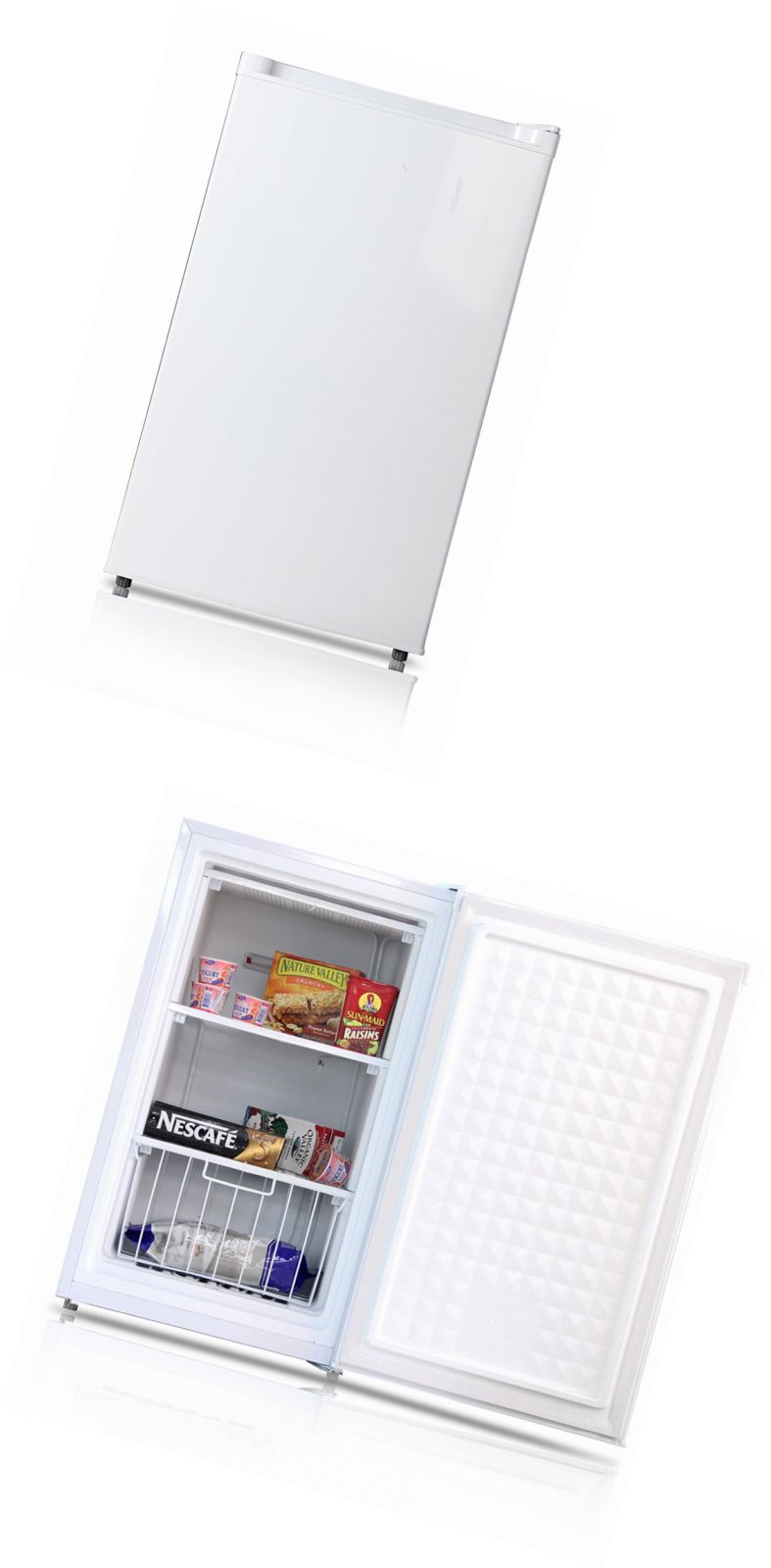 Midea stainless steel compact single reversible door upright freezers - Upright And Chest Freezers 71260 Midea Whs 109fw1 Compact Single Reversible Door Upright Freezer