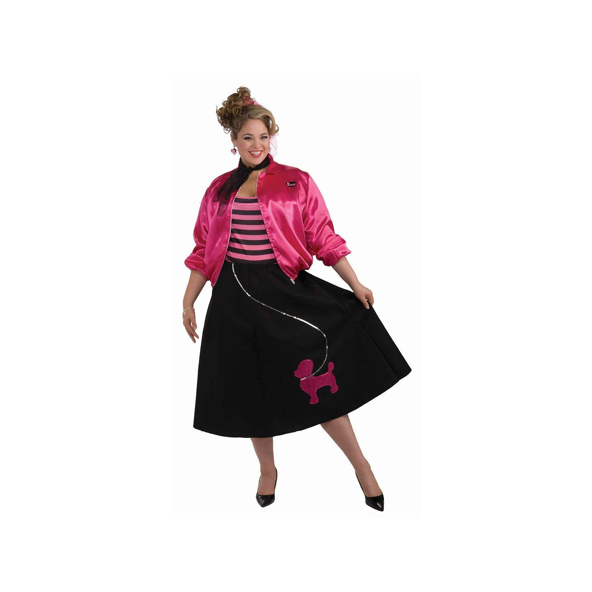 b5948238a501d Plus Size Poodle Skirt Costume Set - Adult Plus, Women's, Multicolor ...