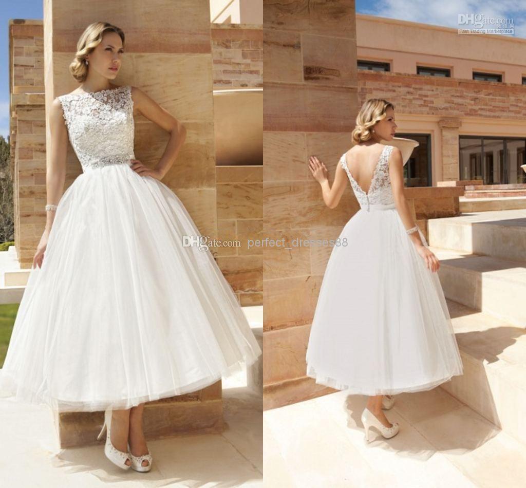Wholesale aline wedding dresses buy bateau sleeveless aline