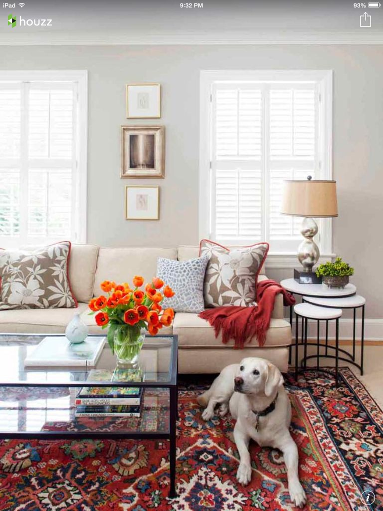 Living Room: I\'ll take the pup too. | House and Home | Pinterest ...