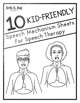 10 kid-friendly speech mechanism sheets for speech therapy