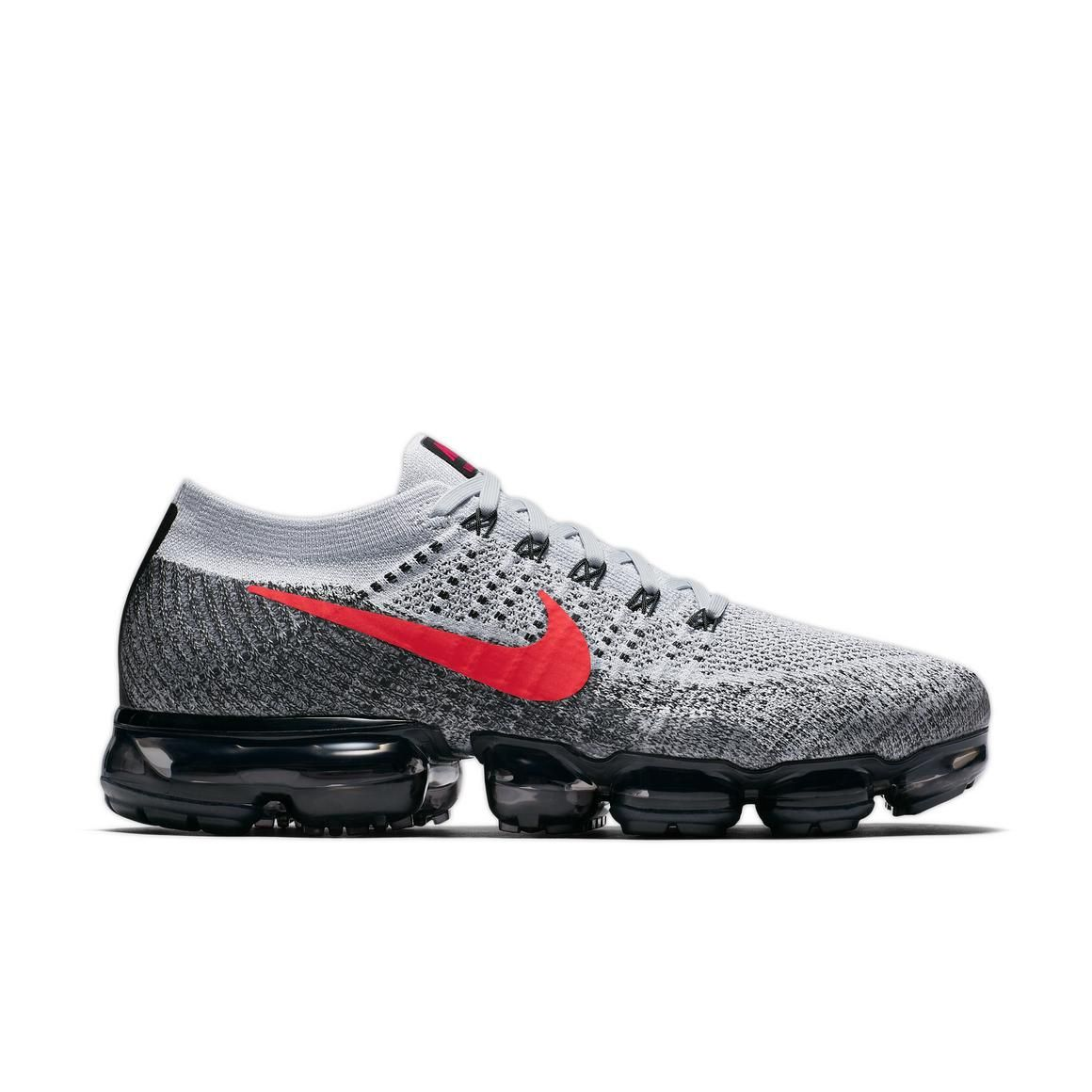Nike Platinum Air Vapormax Flyknit Pure Platinum Nike  University Red Hombres Zapato f75a78